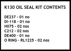 K130 oil seal kit