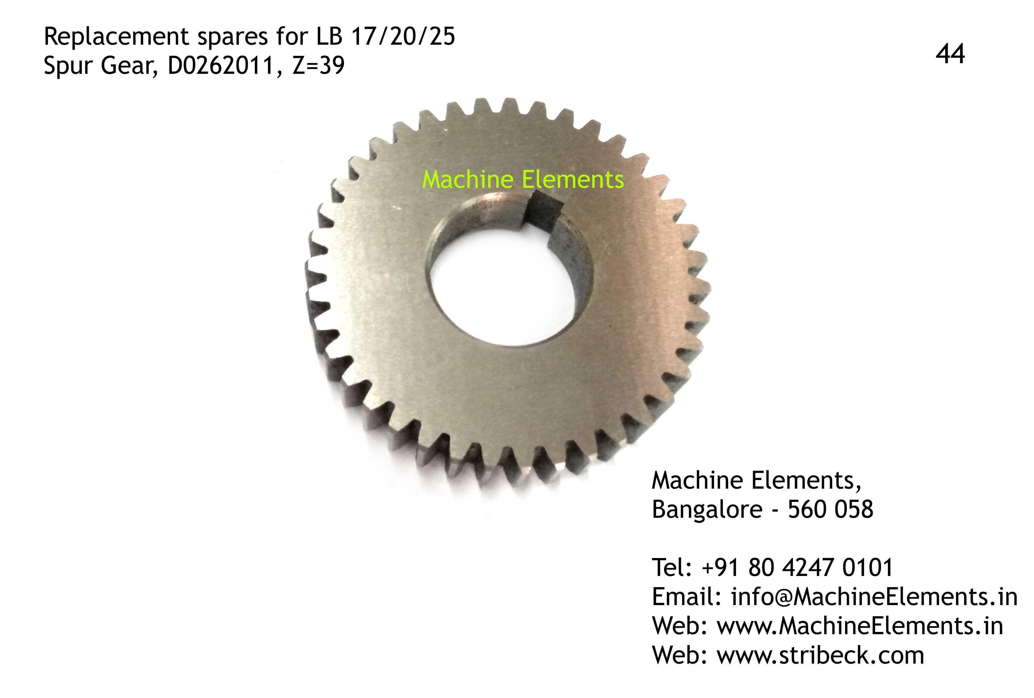 Spur Gear, D0262011, Z=39