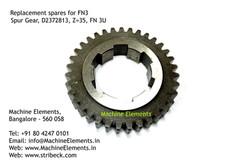 Spur Gear, D2372813, Z=35, FN 3U