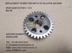 SPUR GEAR D127401-1 Z31 - BIN 98