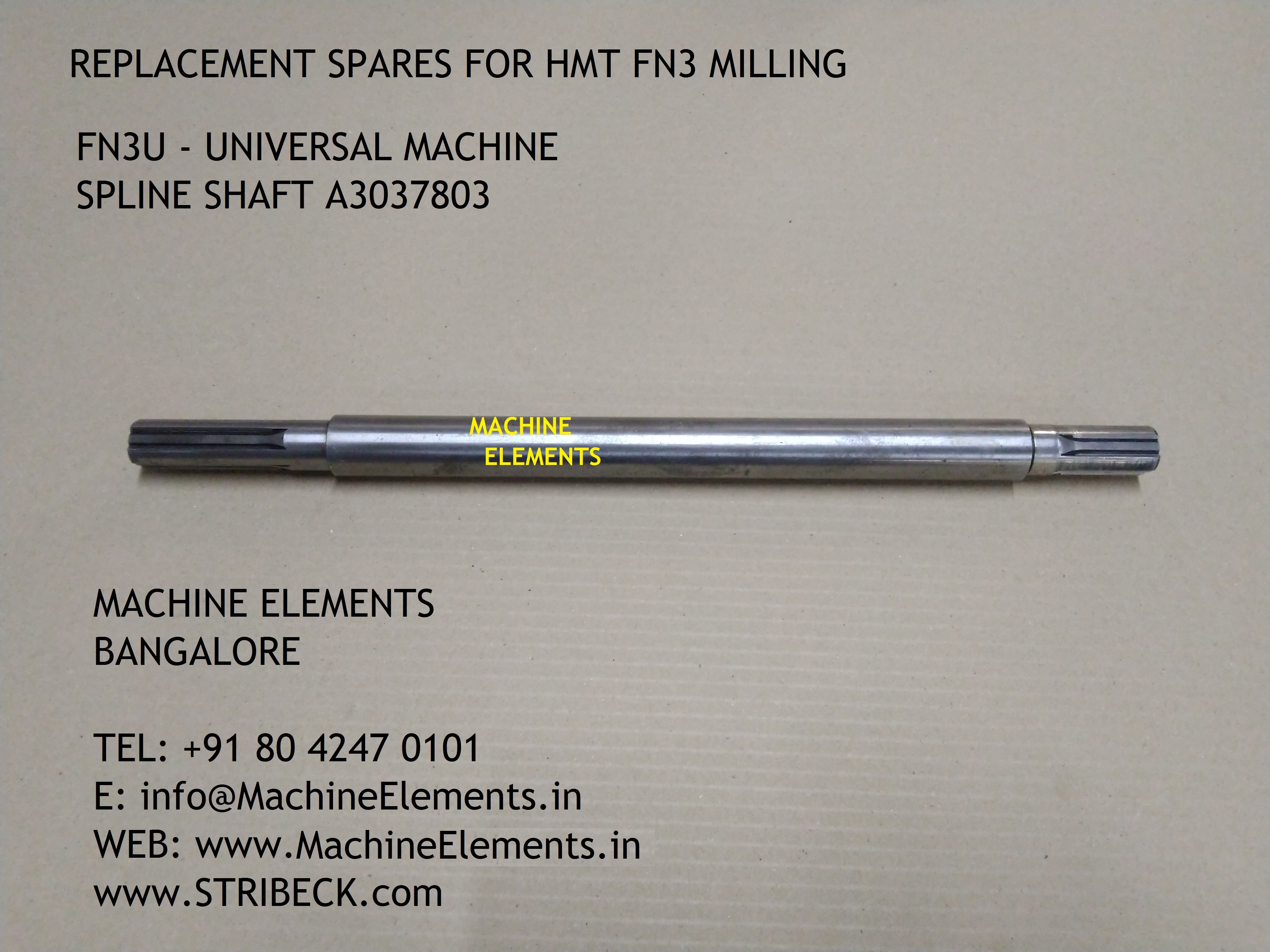 FN3U - SPLINE SHAFT A3037803