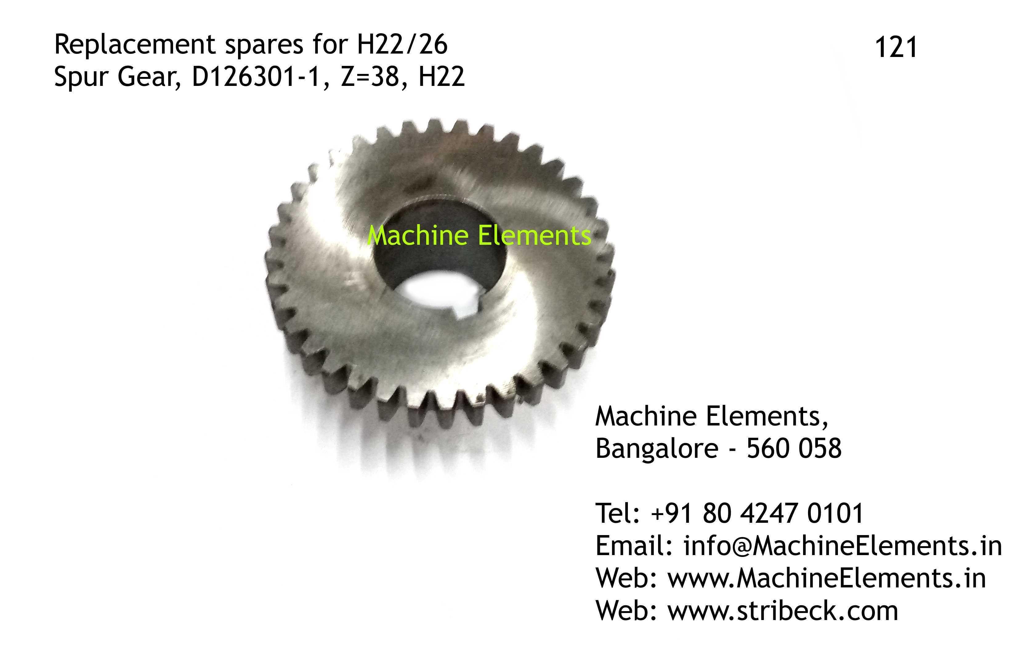Spur Gear D126301-1, Z=38
