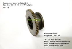 Spur Gear R56-210-303-4 Z47 and Z24 Spli