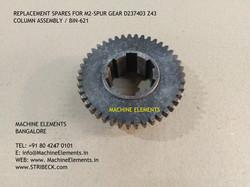 M2 SPUR GEAR D237403 Z43 - COLUMN ASSEMB