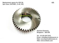 Spur Gear, D1673001, Z=44