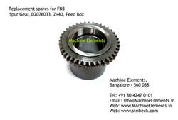 Spur Gear, D2076033, Z=40