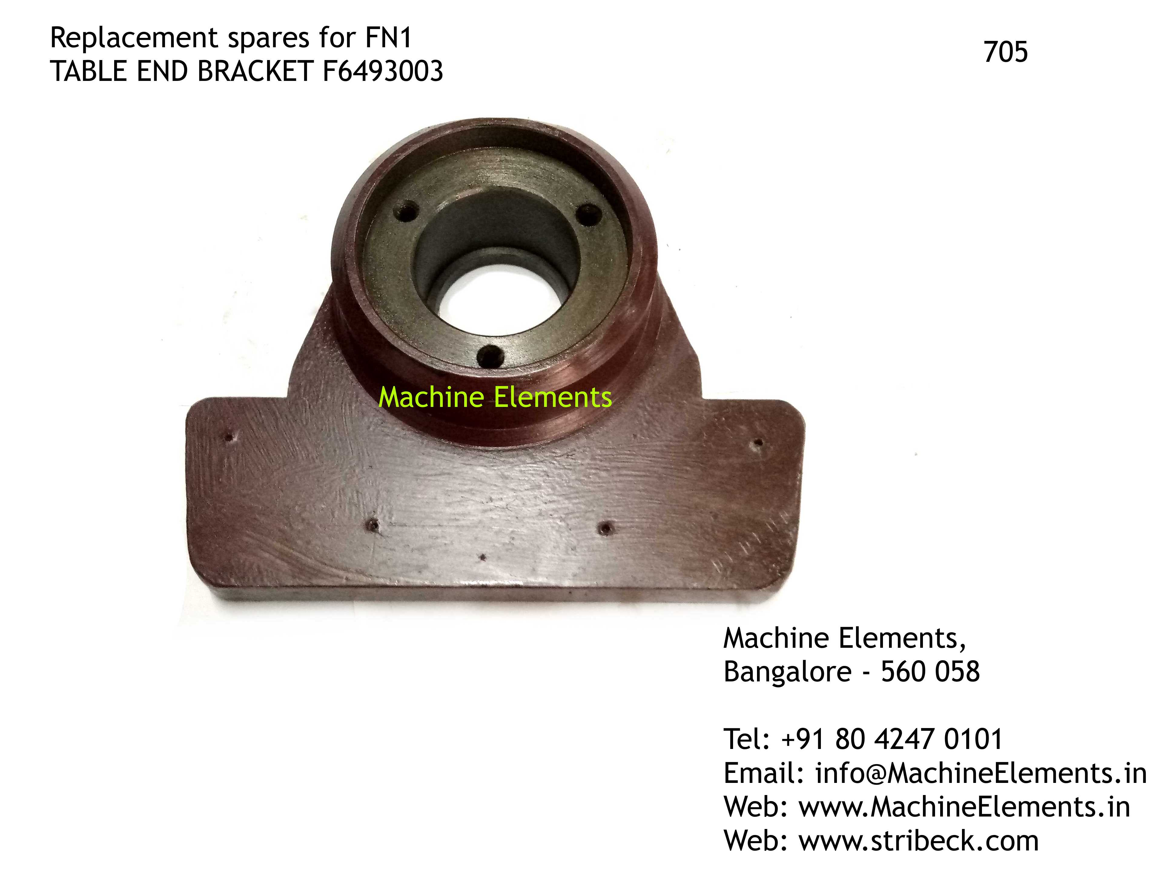 TABLE END BRACKET, F6493003