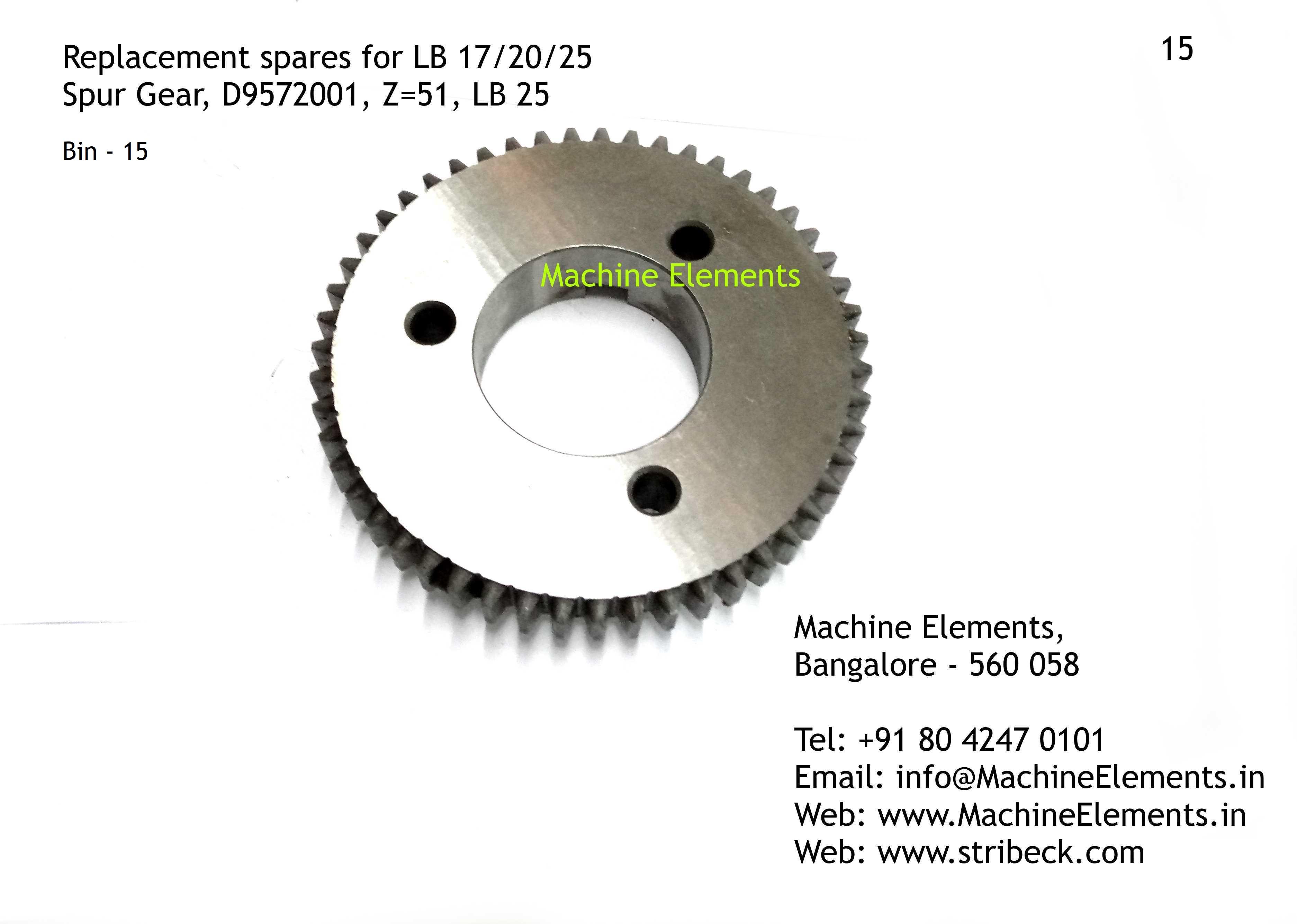 Spur Gear D9572001 Z-51
