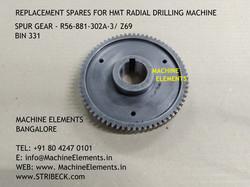 SPUR GEAR - R56-881-302a-3 Z69 - - BIN 3