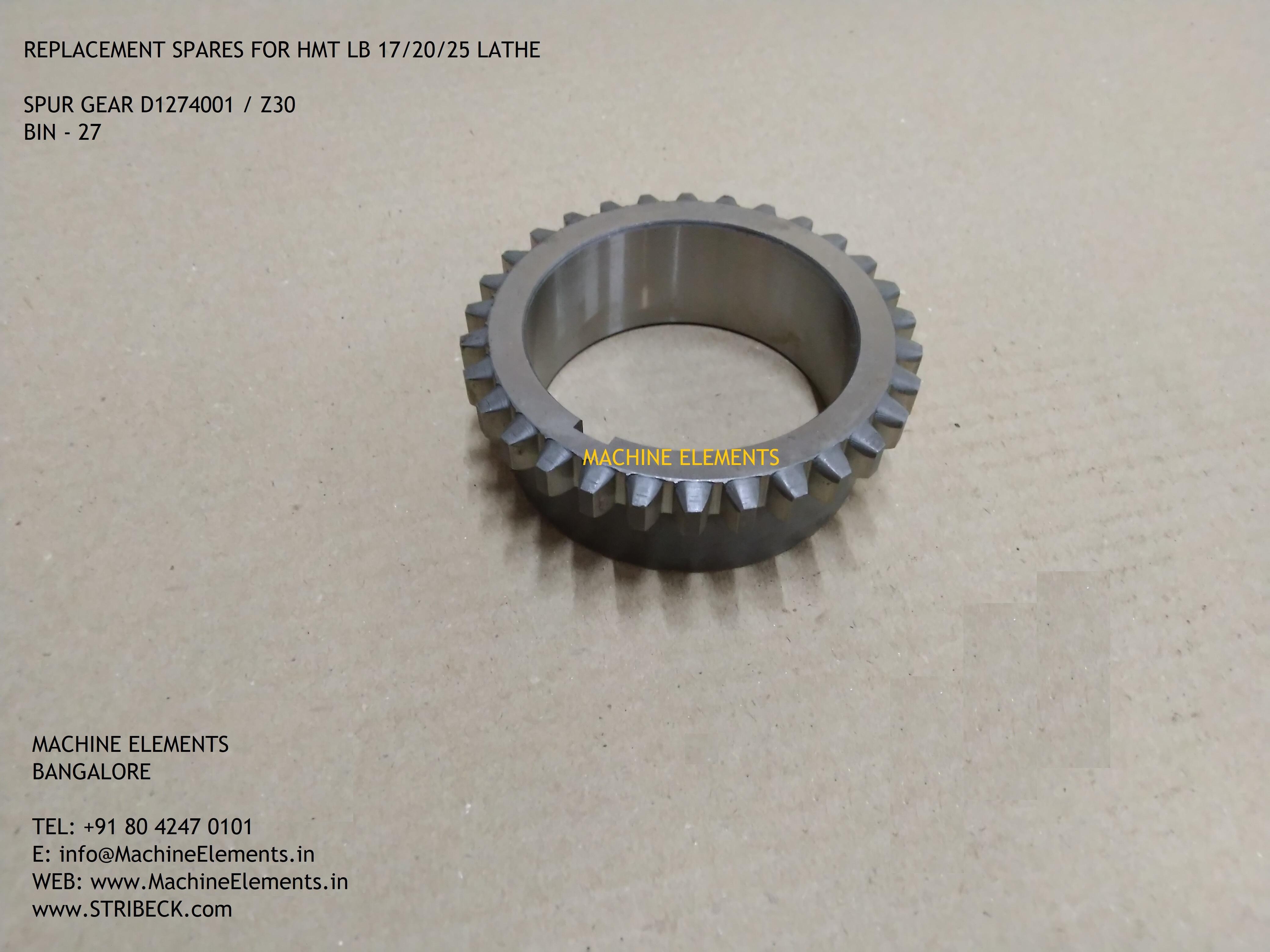 D1274001 z30 spur gear
