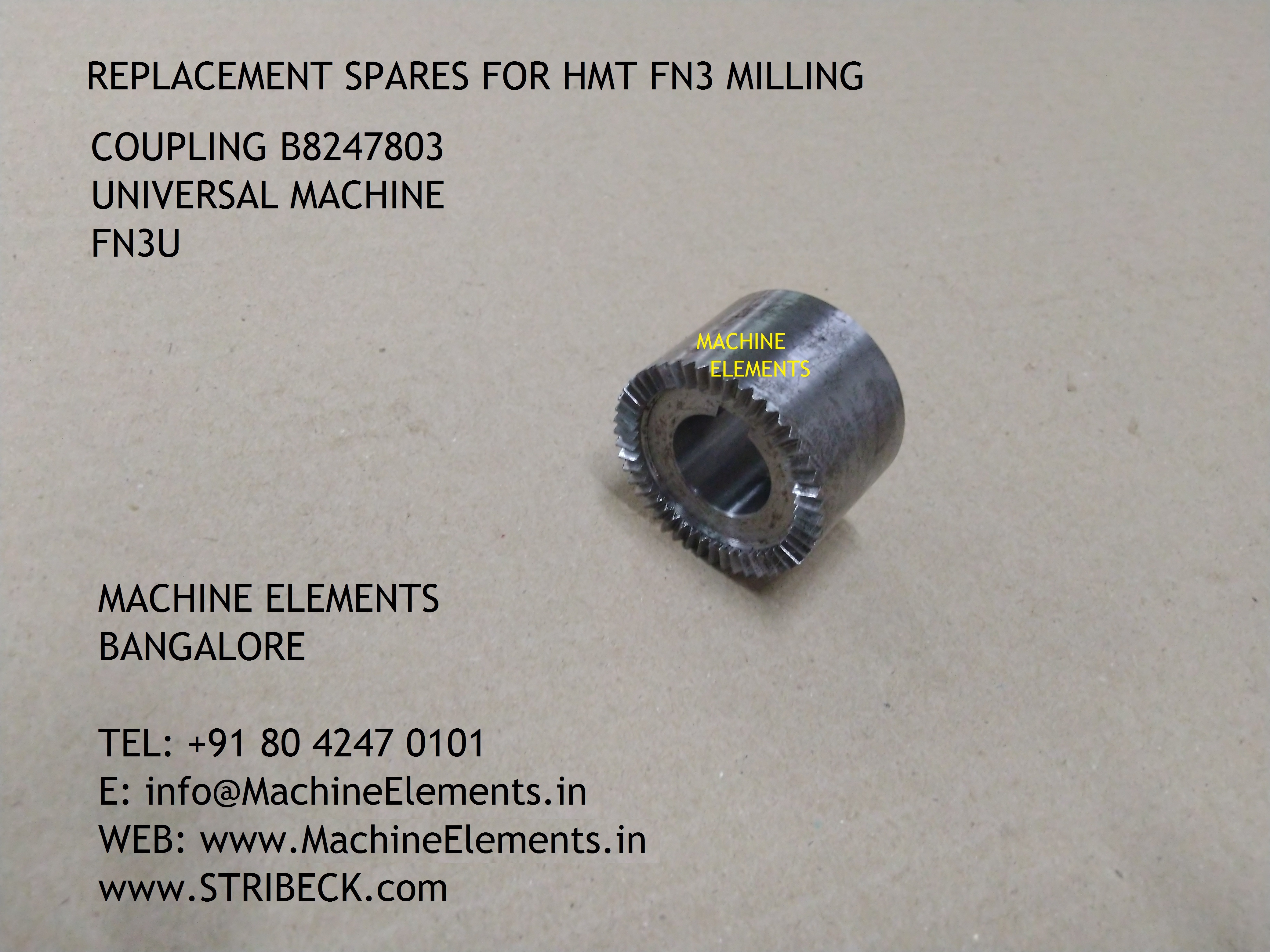 COUPLING  B8247803  UNIVERSAL MACHINE -