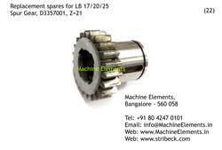 Spur Gear, D3357001, Z=21