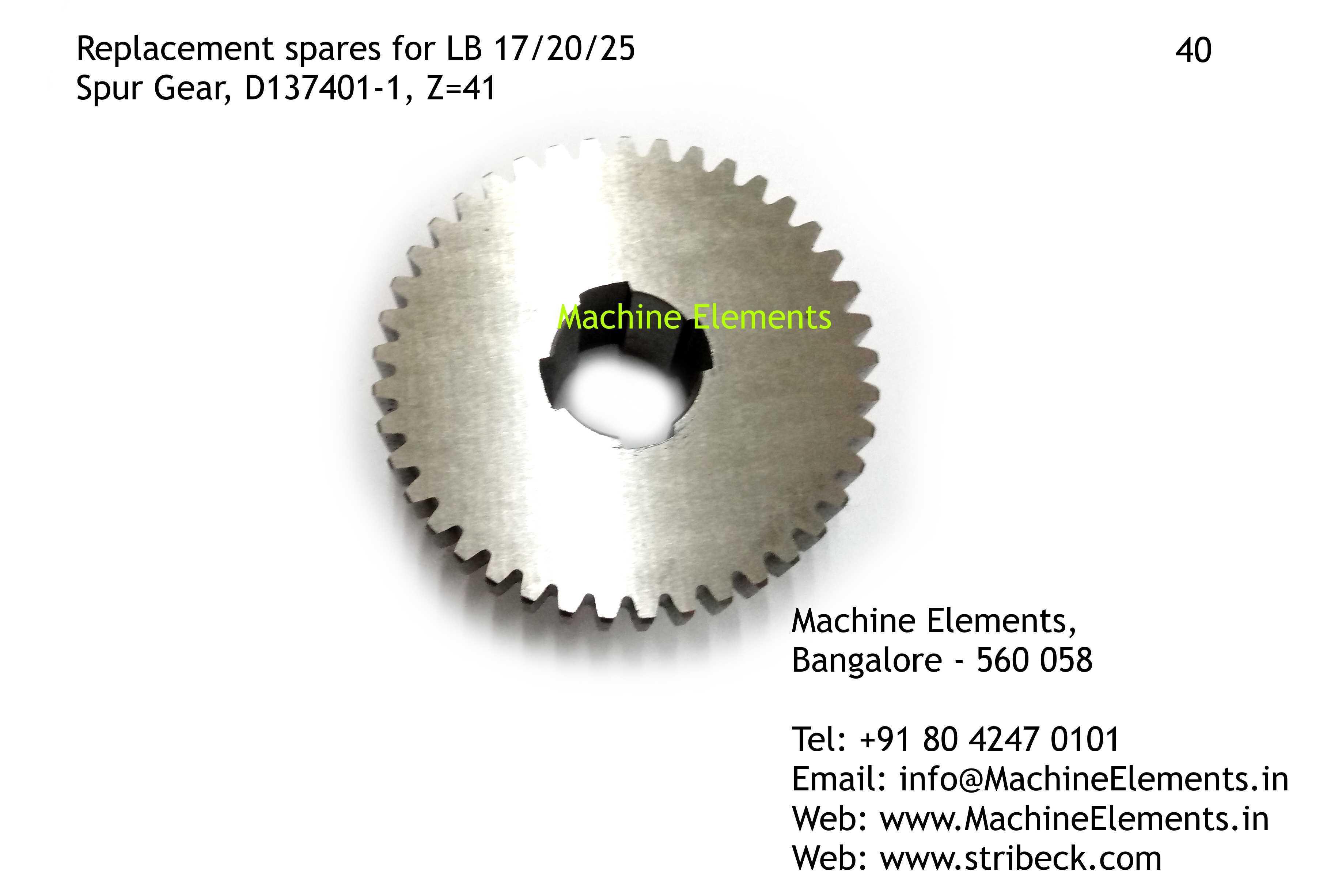 Spur Gear, D137401-1, Z=41