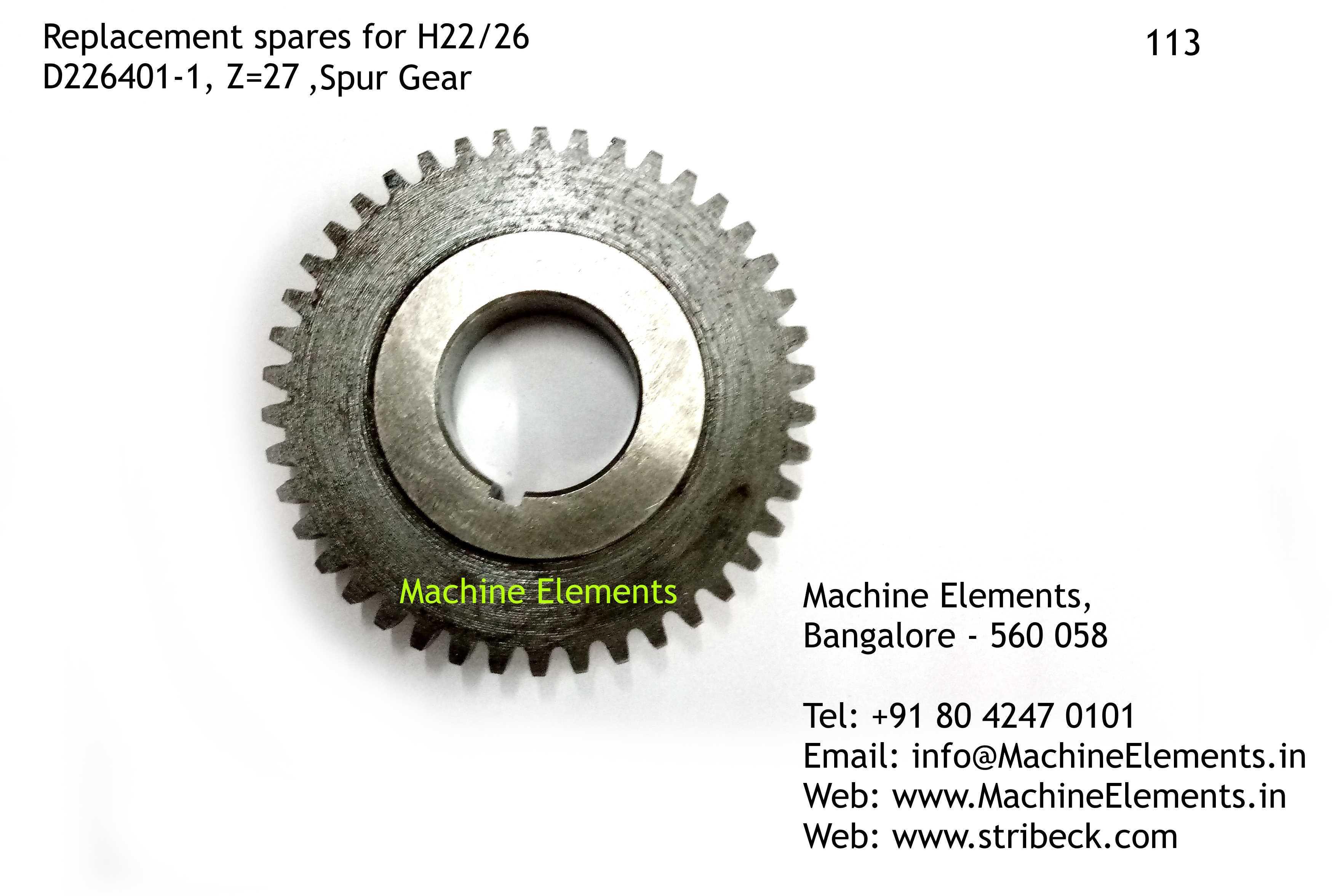Spur Gear, D226401-1, Z=27