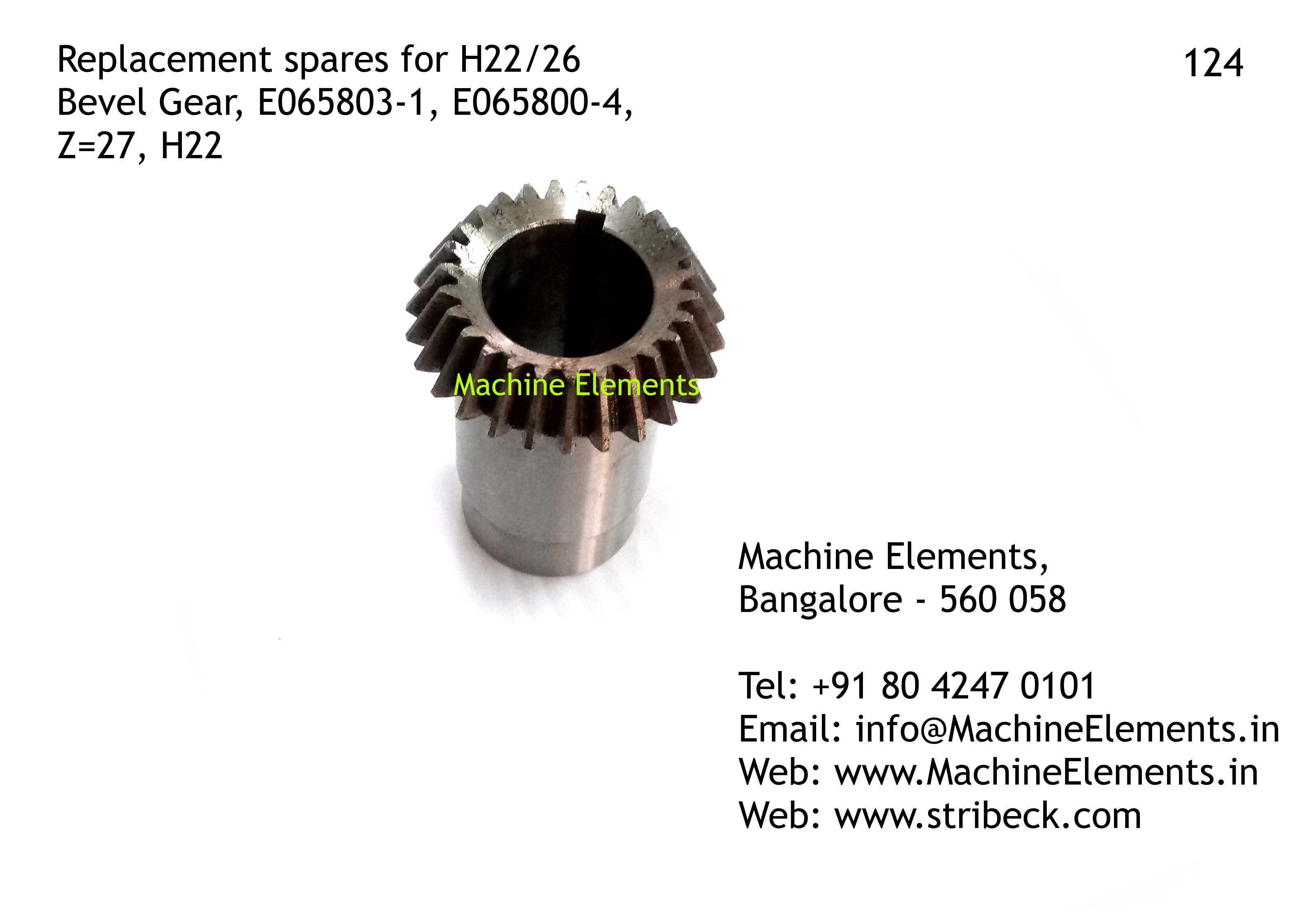 Bevel Gear, E065803-1, E065800-4, Z=27