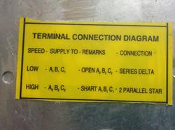 Motor connection details - label inside