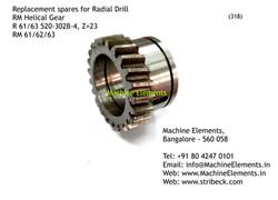 RM Helical Gear, R 61 63 520-302B-4, Z=2