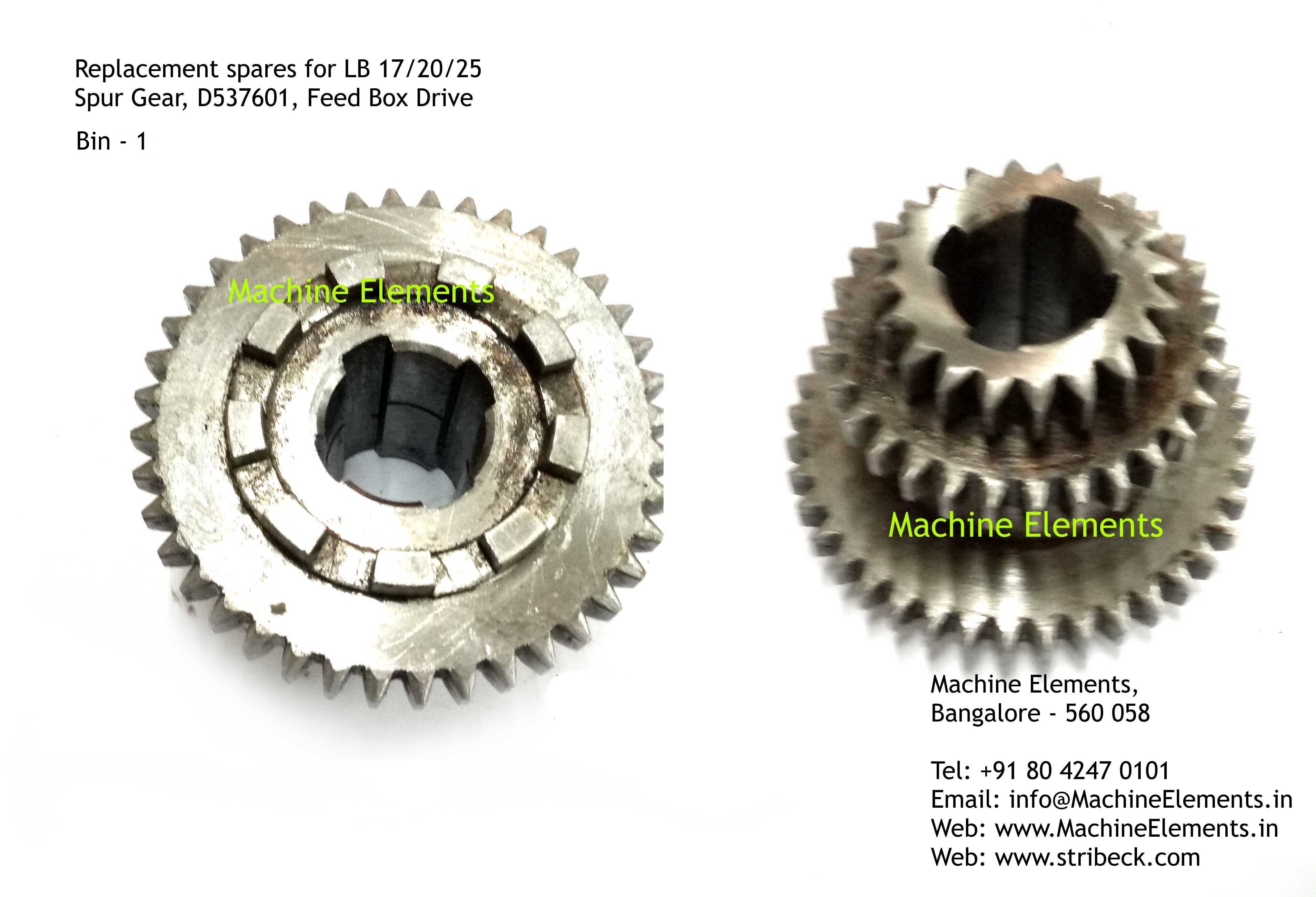 Spur Gear, D537601, Feed Box Drive