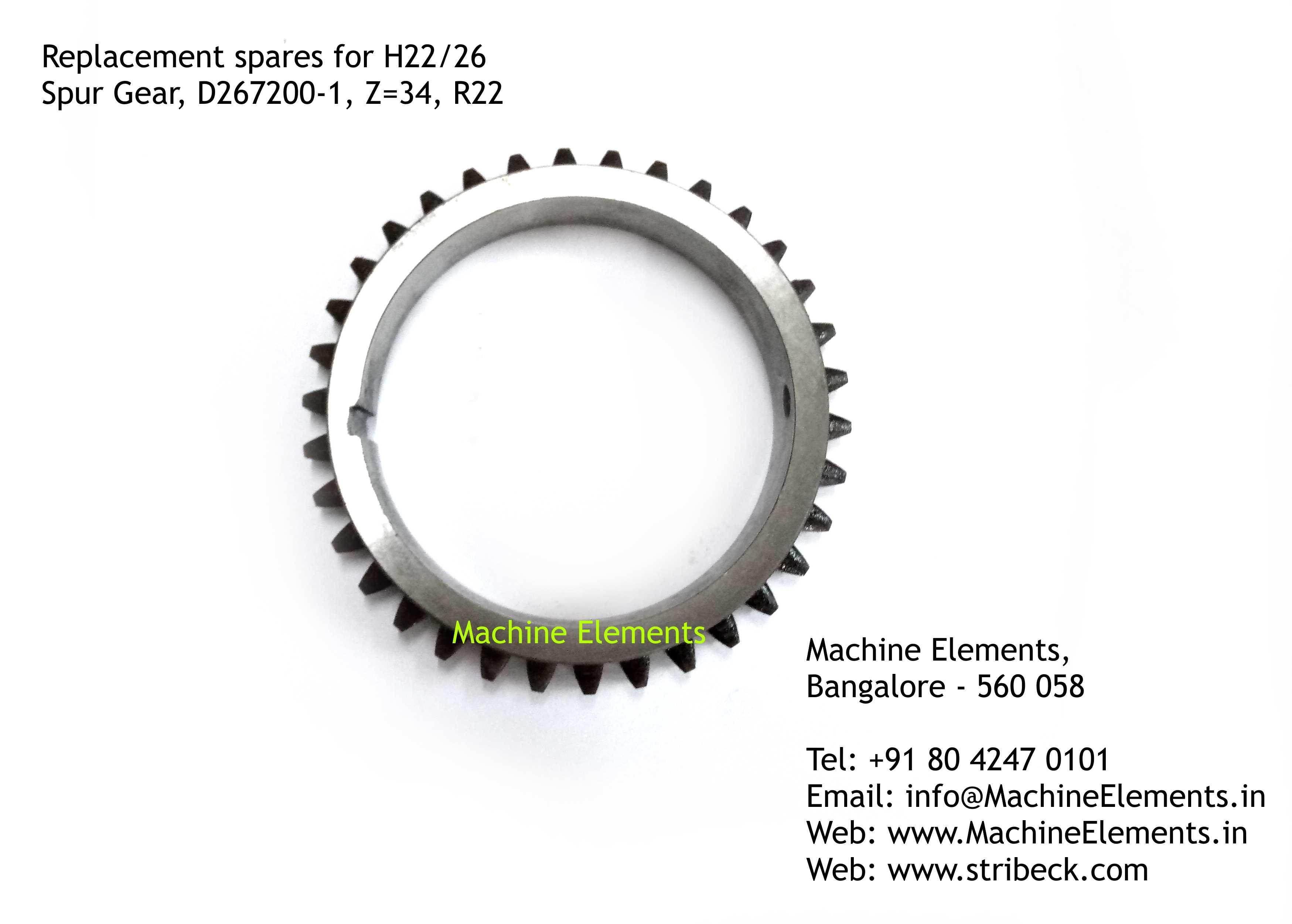 Spur Gear, D267200-1, Z=34, R22