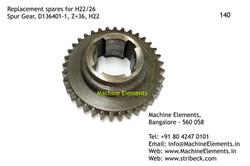 Spur Gear, D136401-1, Z=36