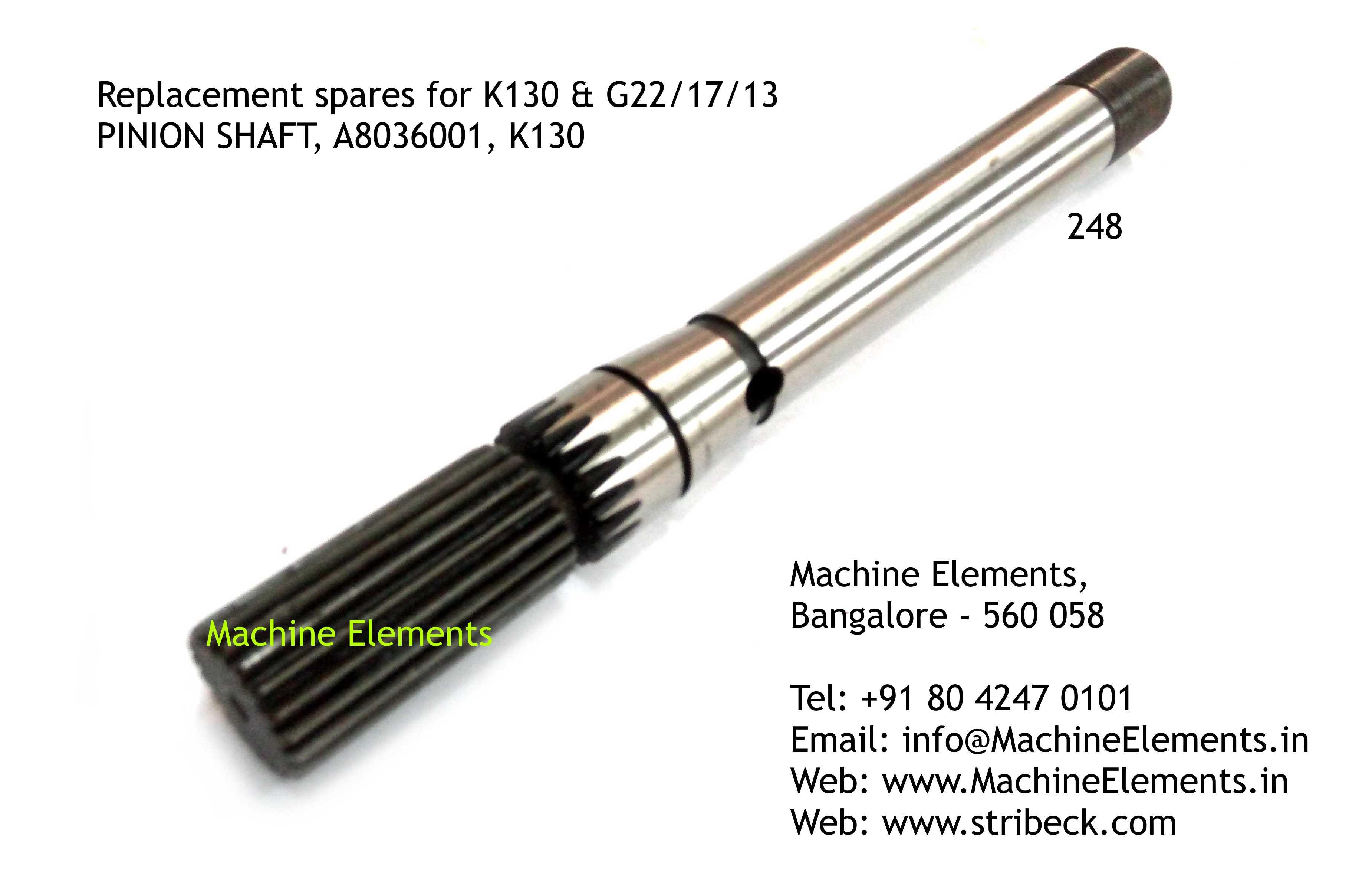 PINION SHAFT, A8036001, K130