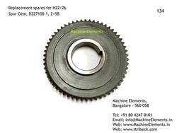 Spur Gear, D227100-1, Z=58