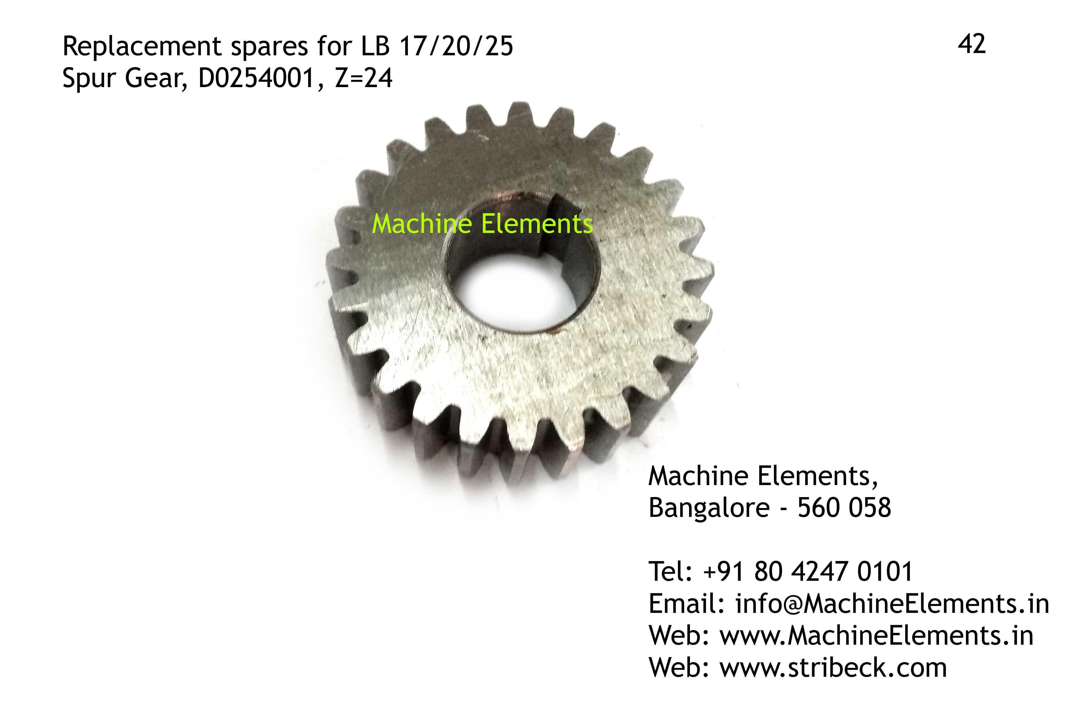 Spur Gear, D0254001, Z=24