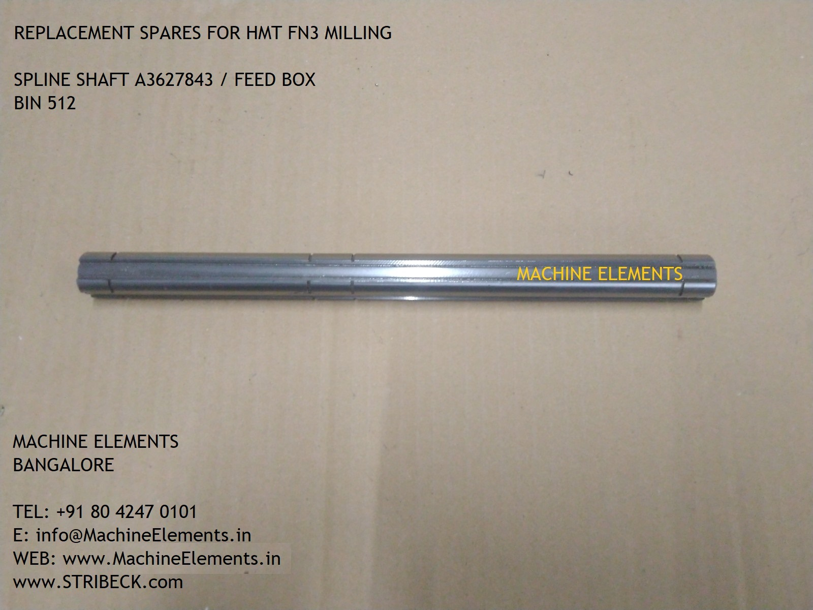 A3627843 SPLINE SHAFT