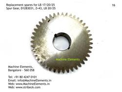 Spur Gear, D1283031, Z=43