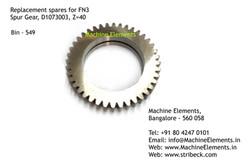 Spur Gear, D1073003, Z=40