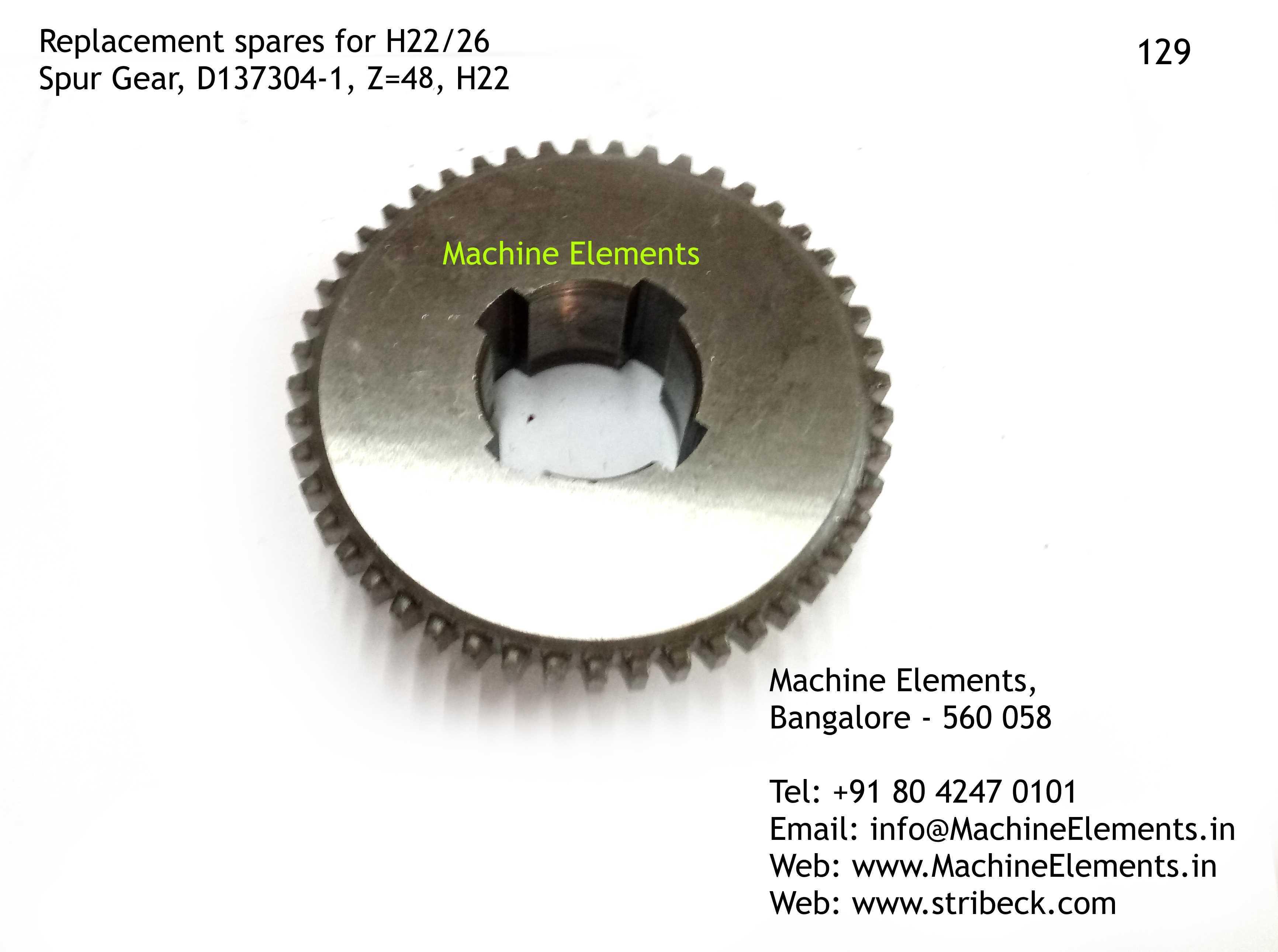 Spur Gear, D137304-1, Z=48