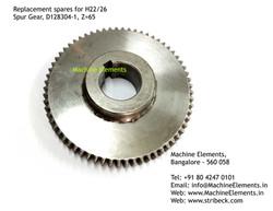 Spur Gear, D128304-1, Z=65