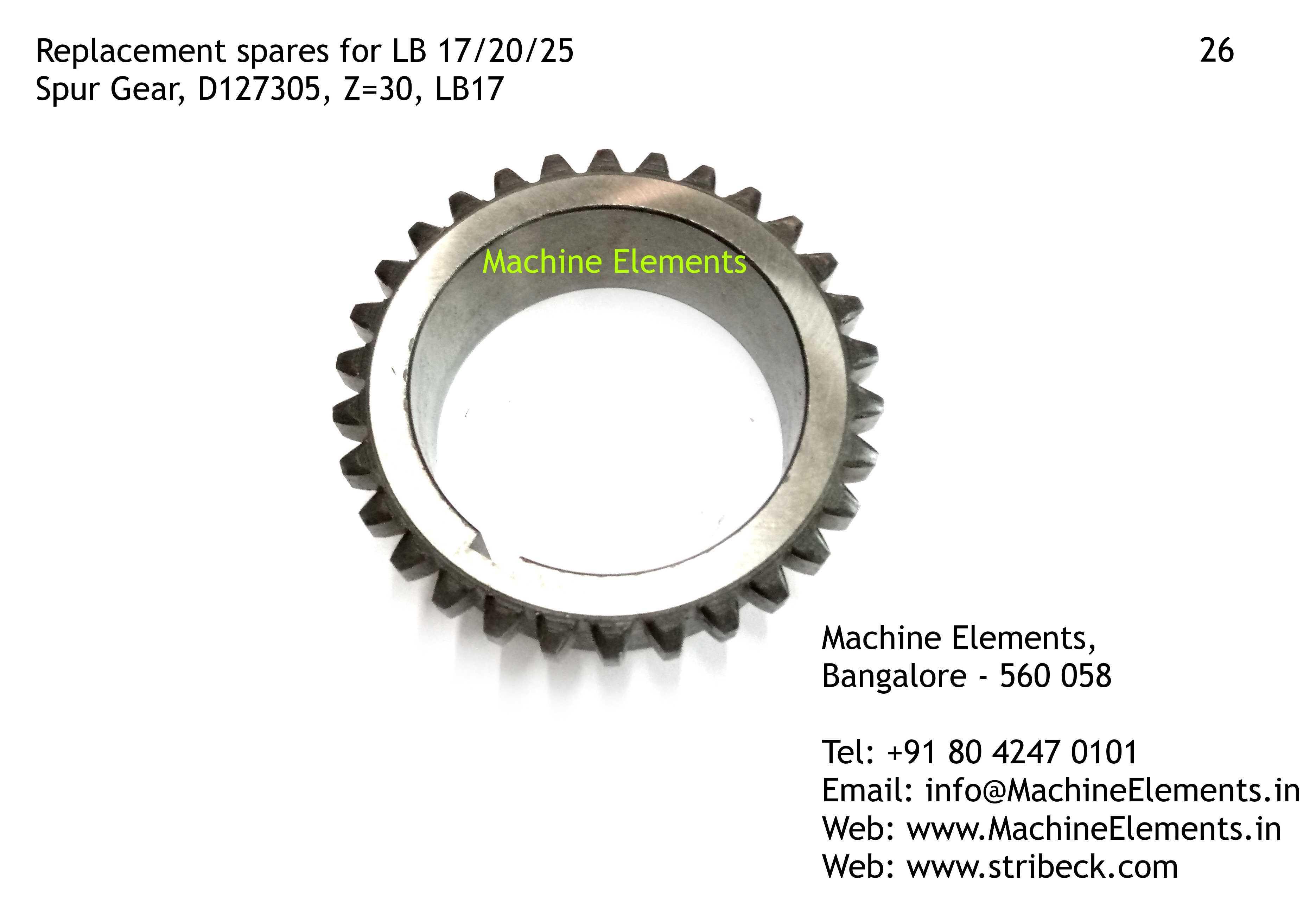Spur Gear, D127305, Z=30