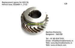 Helical Gear, D226601-1, Z=22