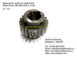 Motor Pinion, R56-880-301C-4, Z=20