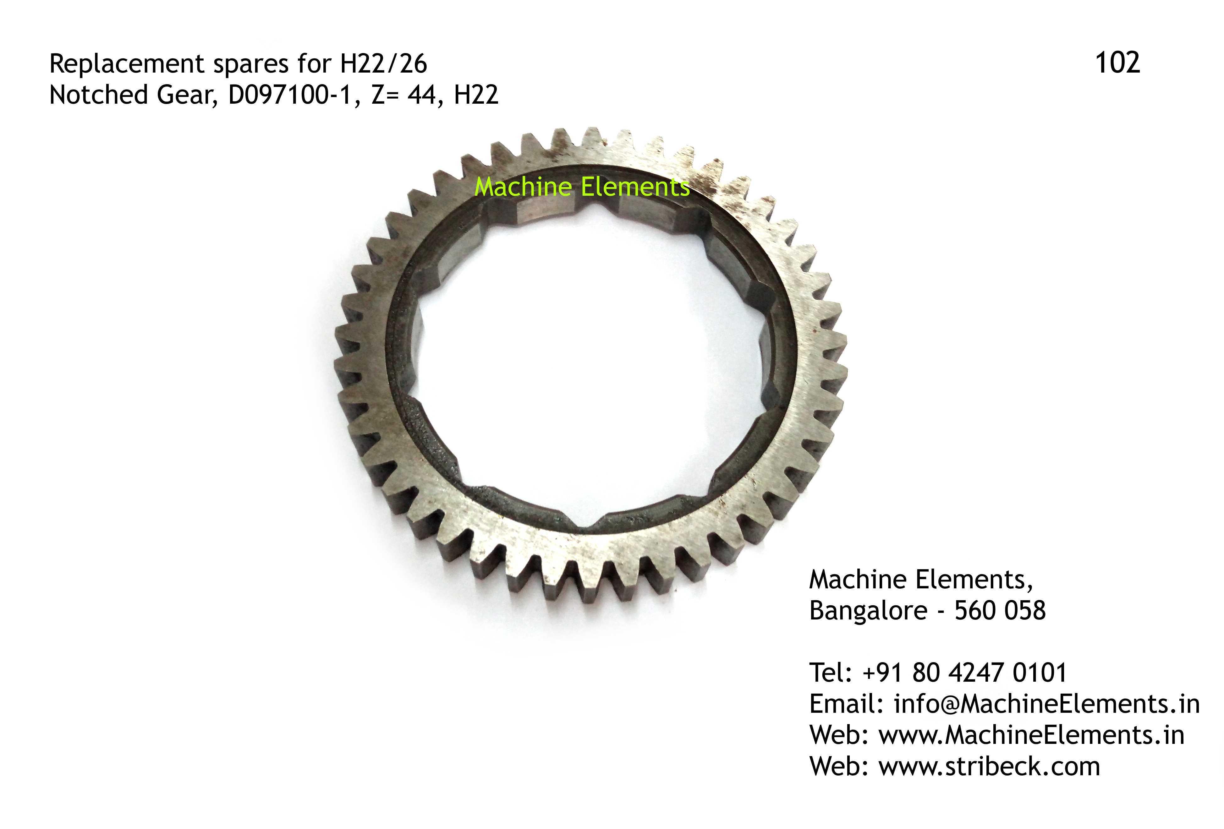 Notched Gear, D097100-1, Z=44