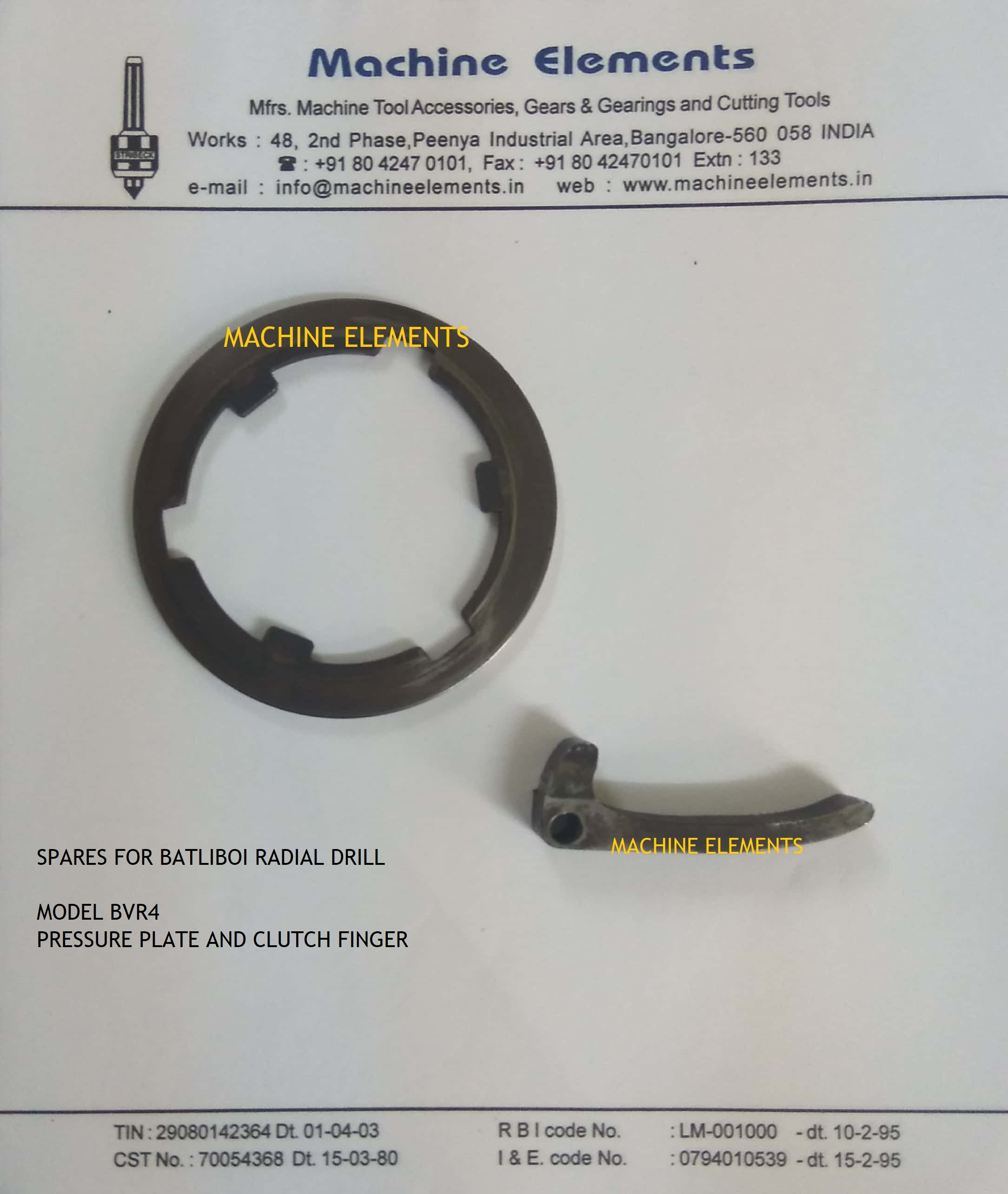 CLUTCH LEVER AND PLATE