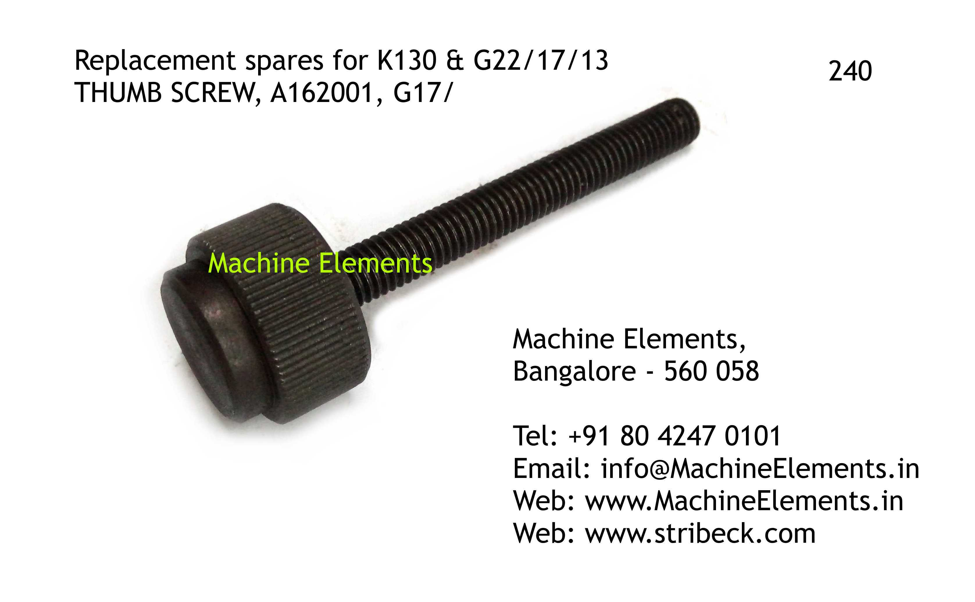 THUM SCREW, A162001, G17
