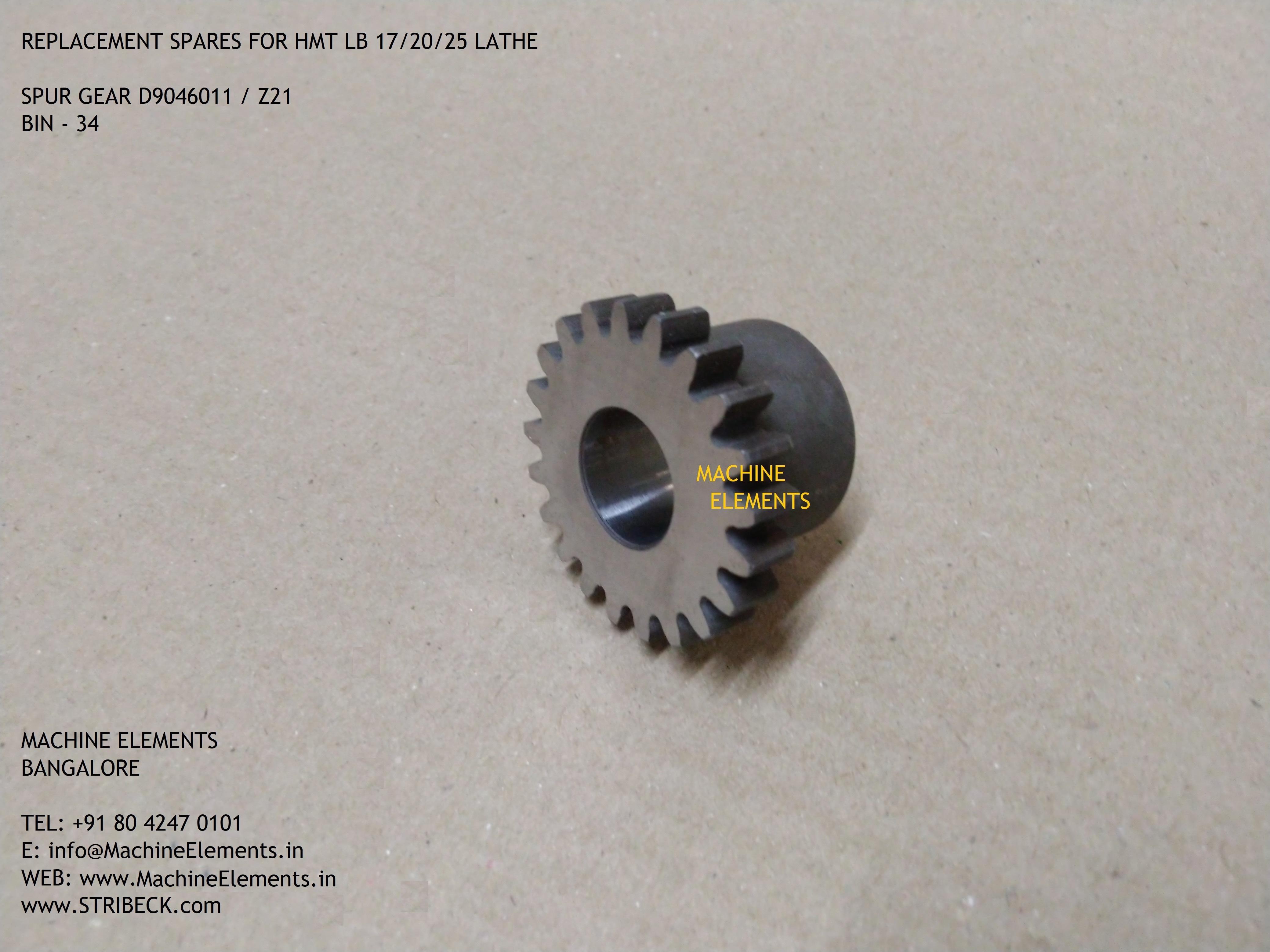 D9046011 z21 SPUR GEAR