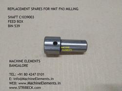 SHAFT C1039003 FEED BOX BIN  539
