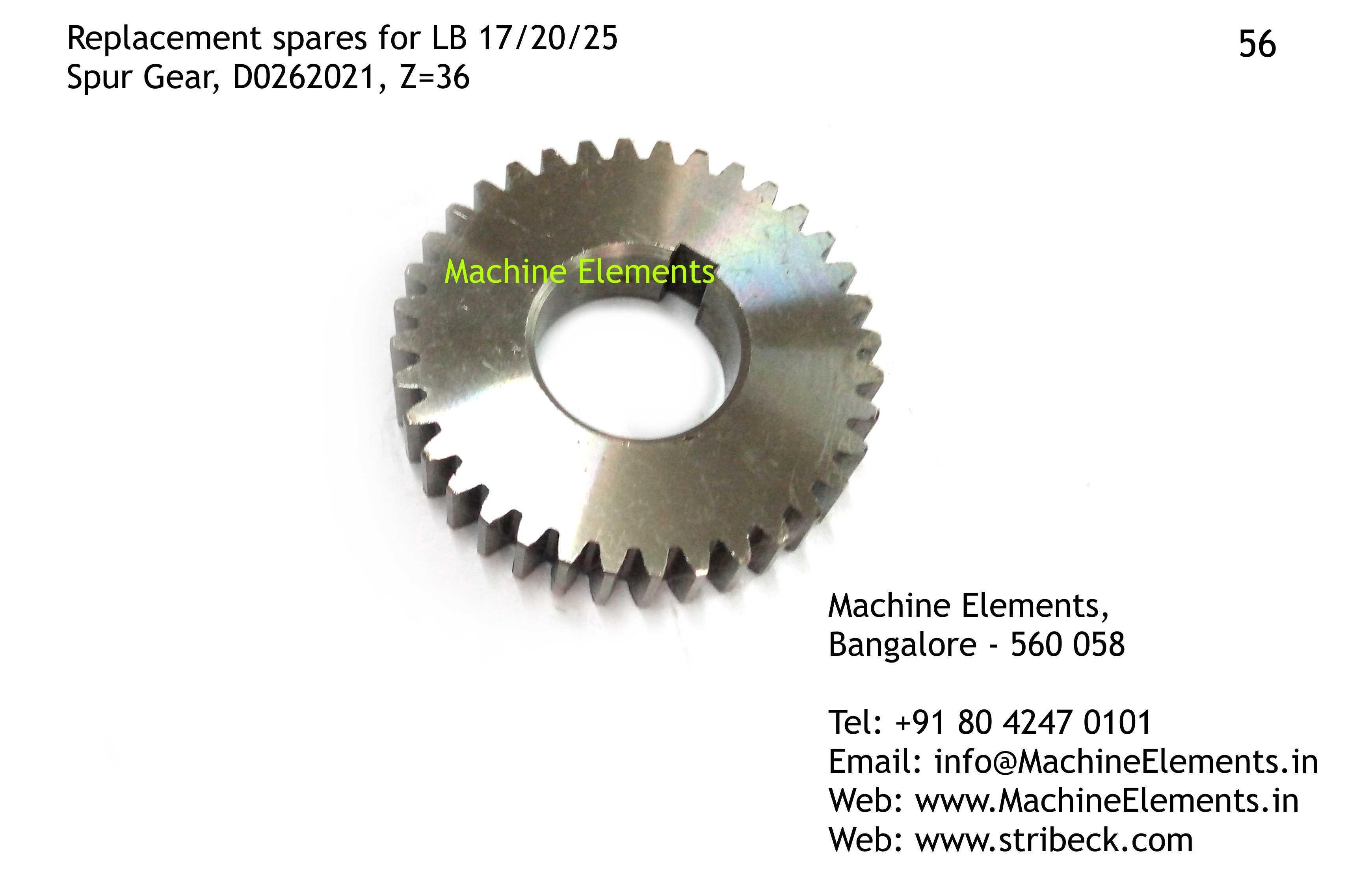 D0262021 z36 Spur Gear,