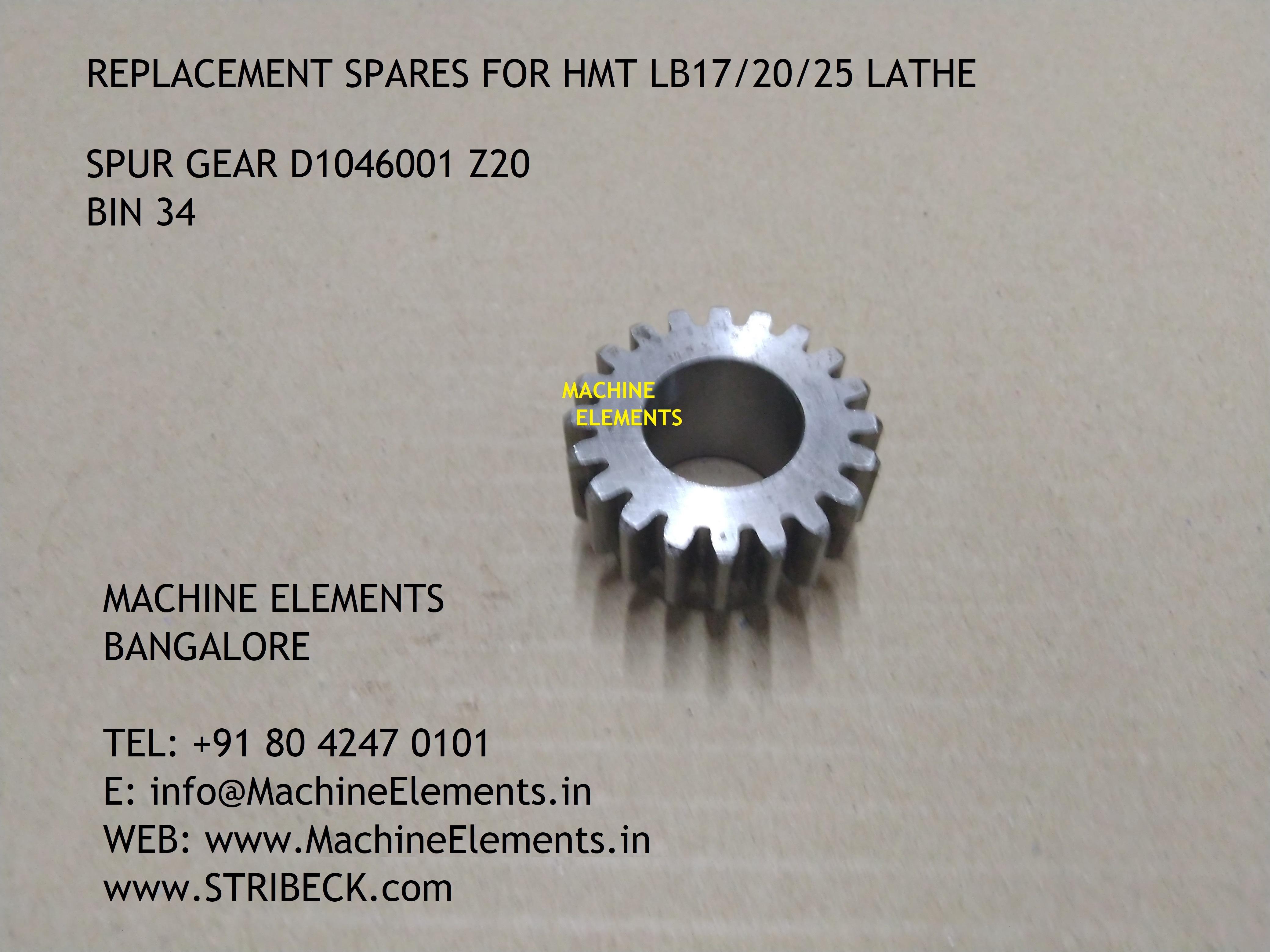 SPUR GEAR D1046001 Z20 BIN 34