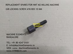 GIB LOCKING SCREW A761003 10 mm