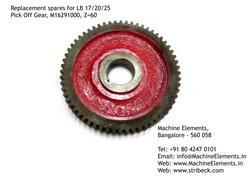 Pick Off Gear, M16291000, Z=60