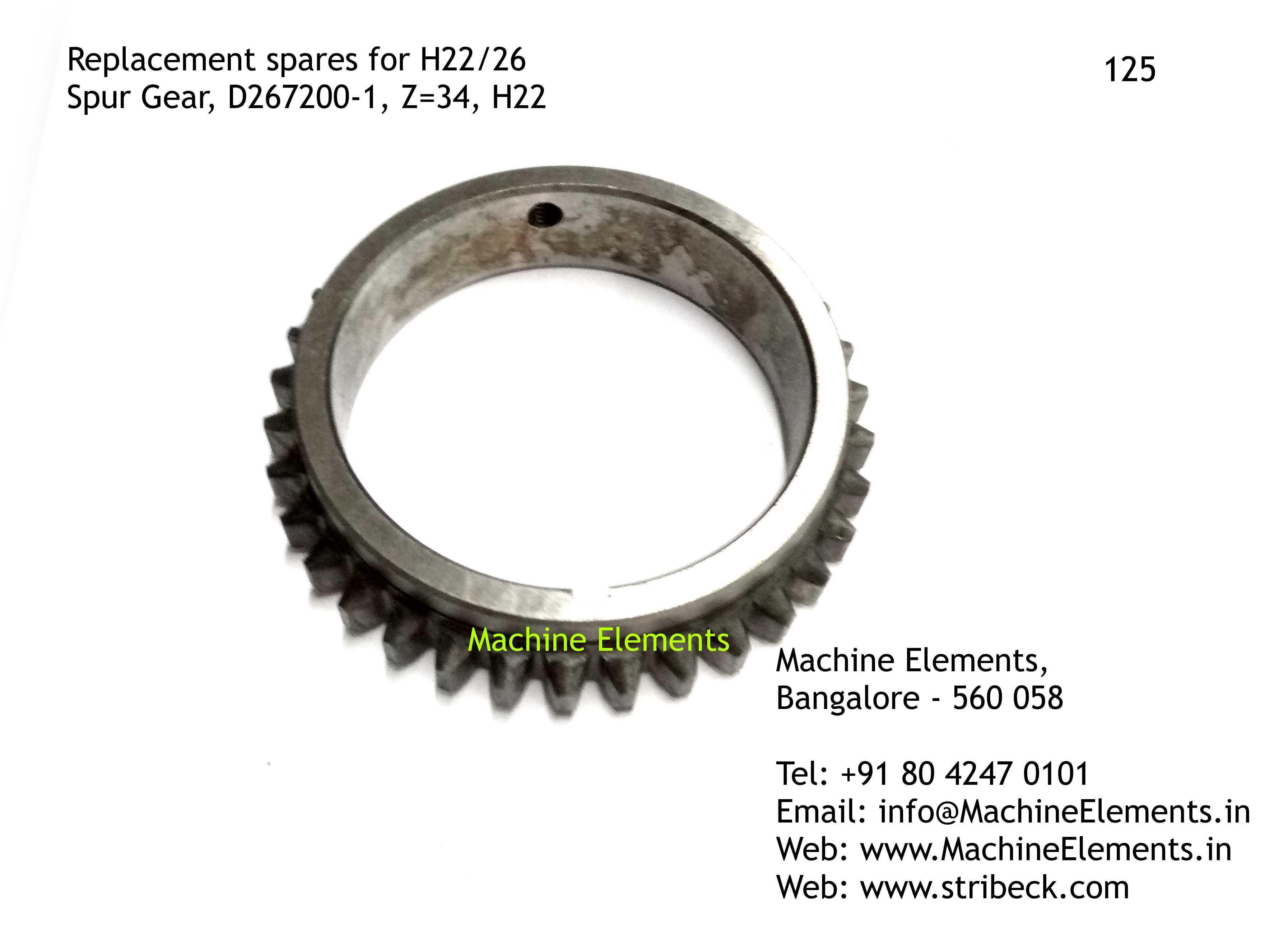 Spur Gear, D267200-1, Z=34
