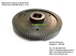 Helical Gear, R56-880-302A-3, Z=75