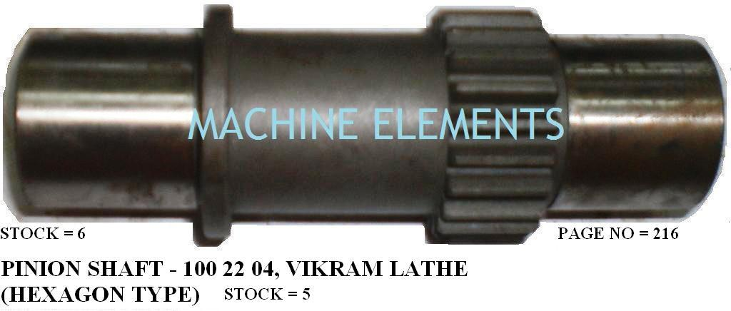 100 22 04 PINION SHAFT