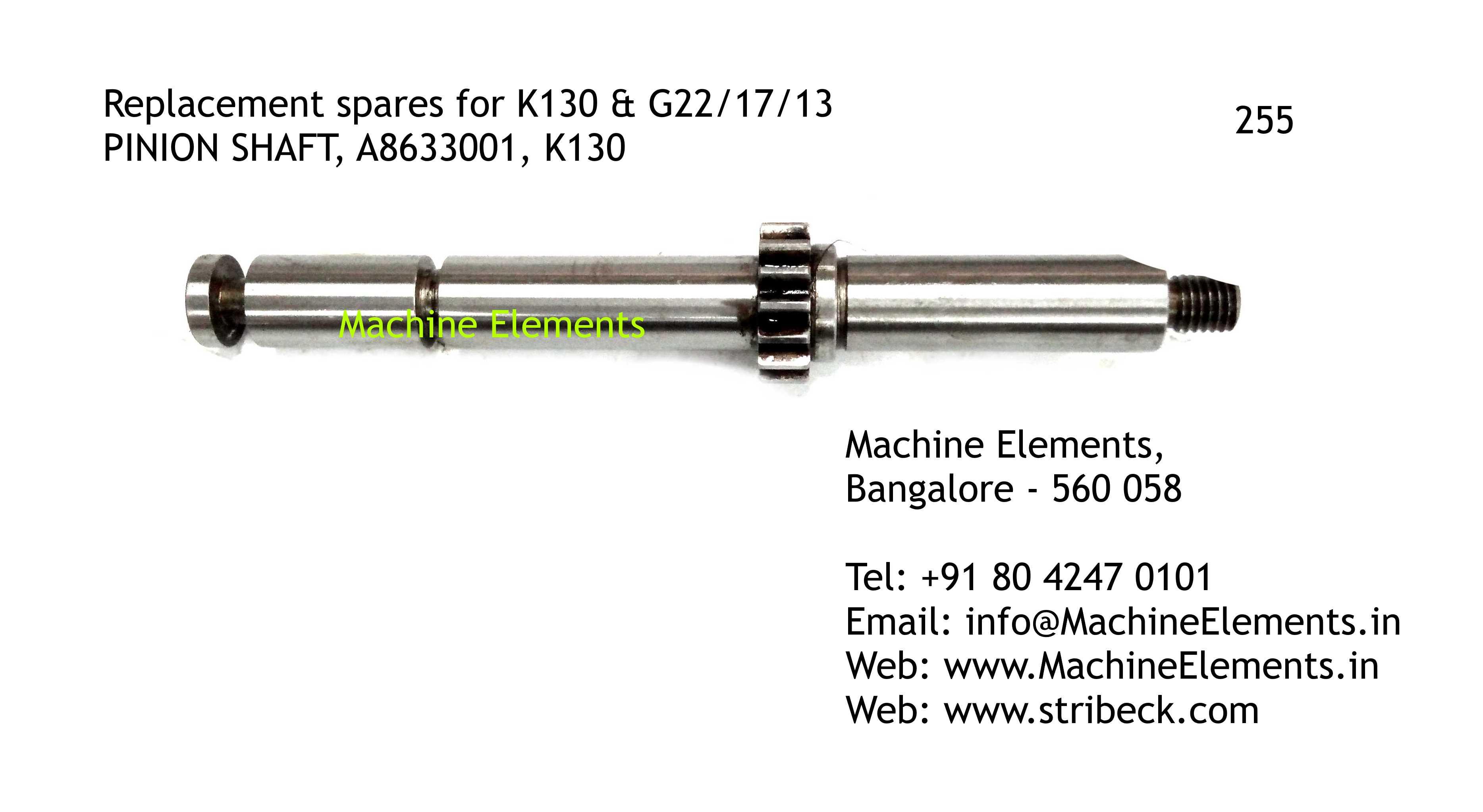PINION SHAFT, A8633001, K130