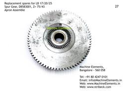 Spur Gear, D8583001, Z=75 & 43