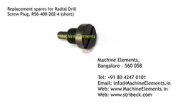 Screw Plug, R56-400-202-4 (short)